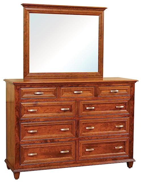 Wayside Custom Furniture Rosedale 9 Drawer Dresser & Mirror