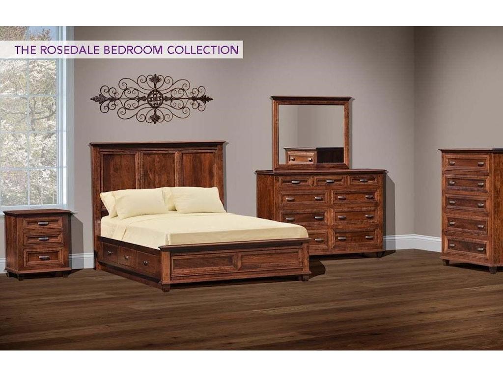 Wayside Custom Furniture Rosedale4pc Queen Bedroom Group 1