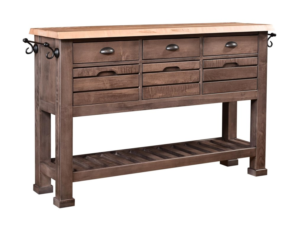 Wayside Custom Furniture RuffSawnDistrict Buffet