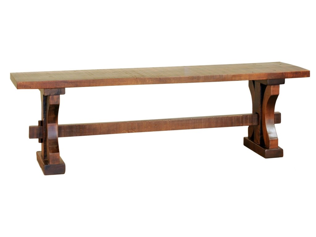 Wayside Custom Furniture RuffSawnRustic Carlisle Bench