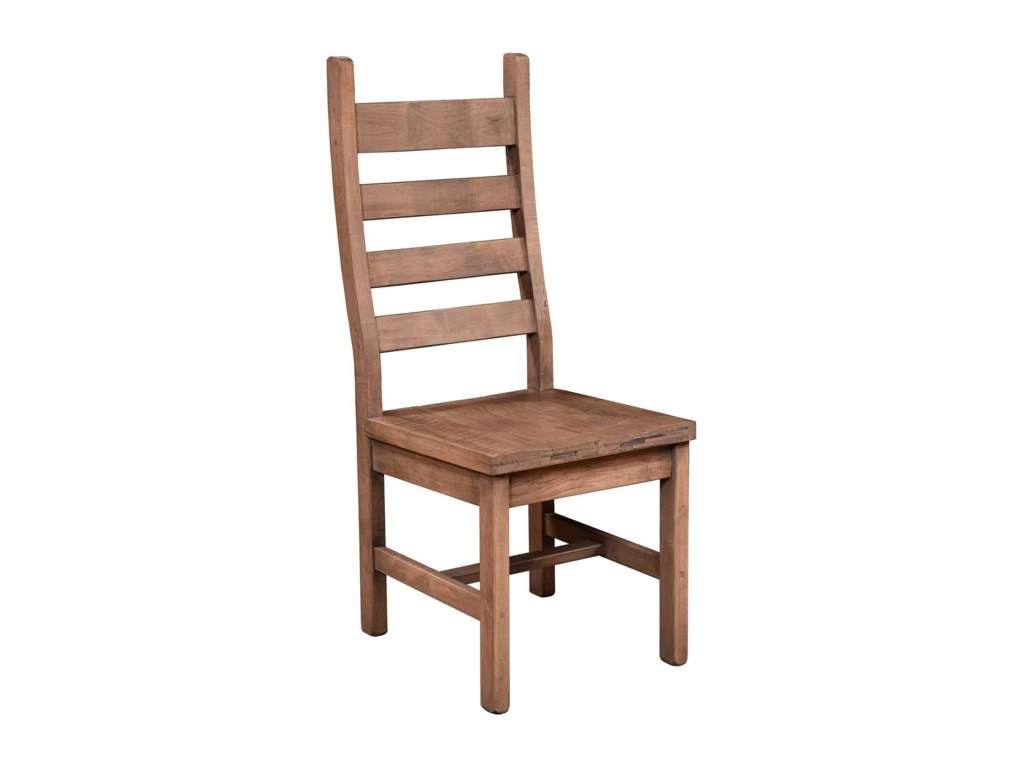 Wayside Custom Furniture RuffSawnRustic Ladder Back Side Chair
