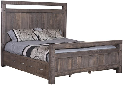 Wayside Custom Furniture Timber Bedroom King Bed With Side Storage ...