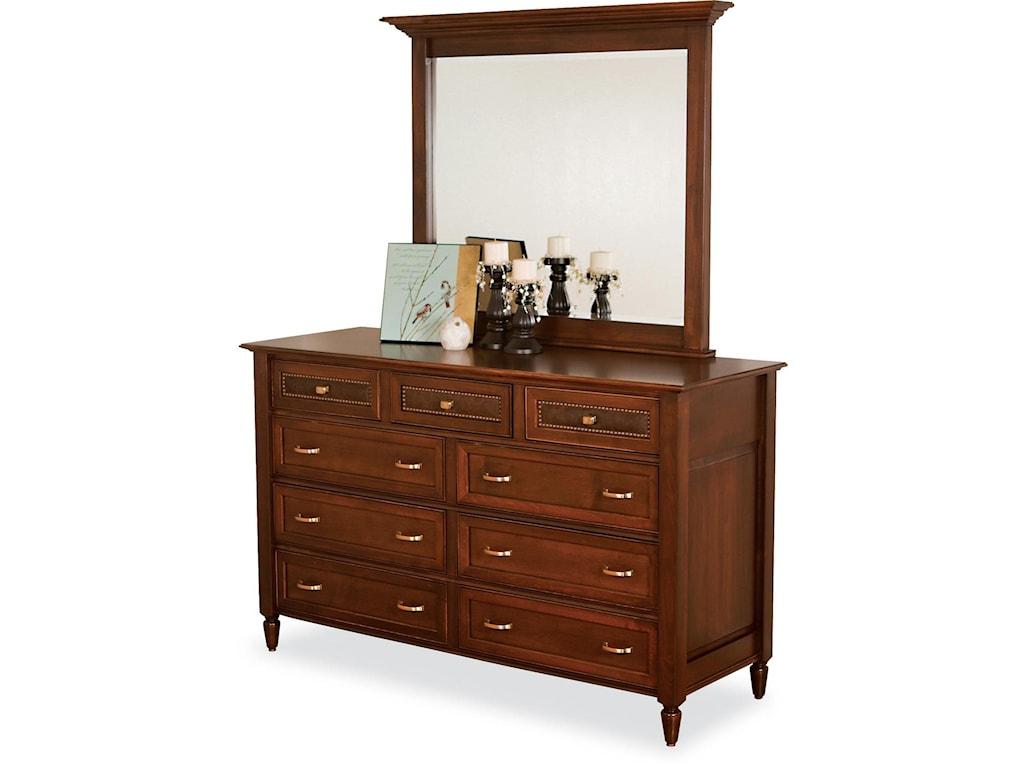 Wayside Custom Furniture Stonebriar9 Drawer Dresser & Mirror
