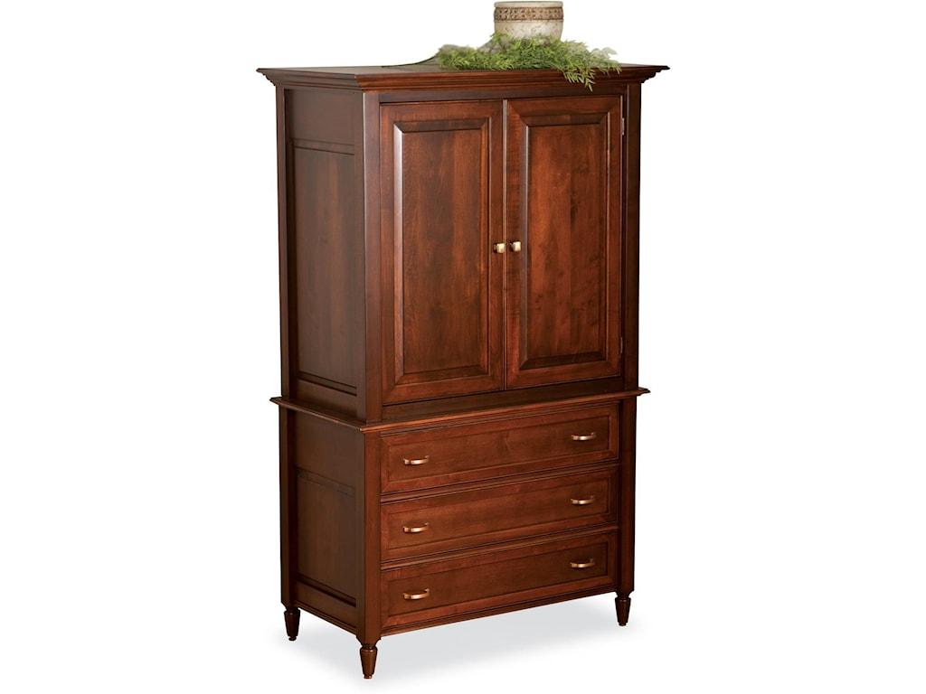 Wayside Custom Furniture Stonebriar 2pc Armoire Wayside Furniture Armoires
