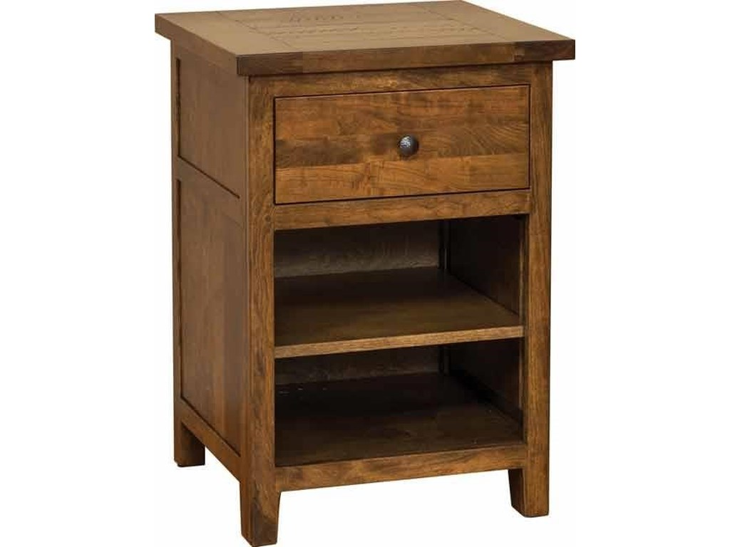 Wayside Custom Furniture Timber Mill1 Drawer Nightstand