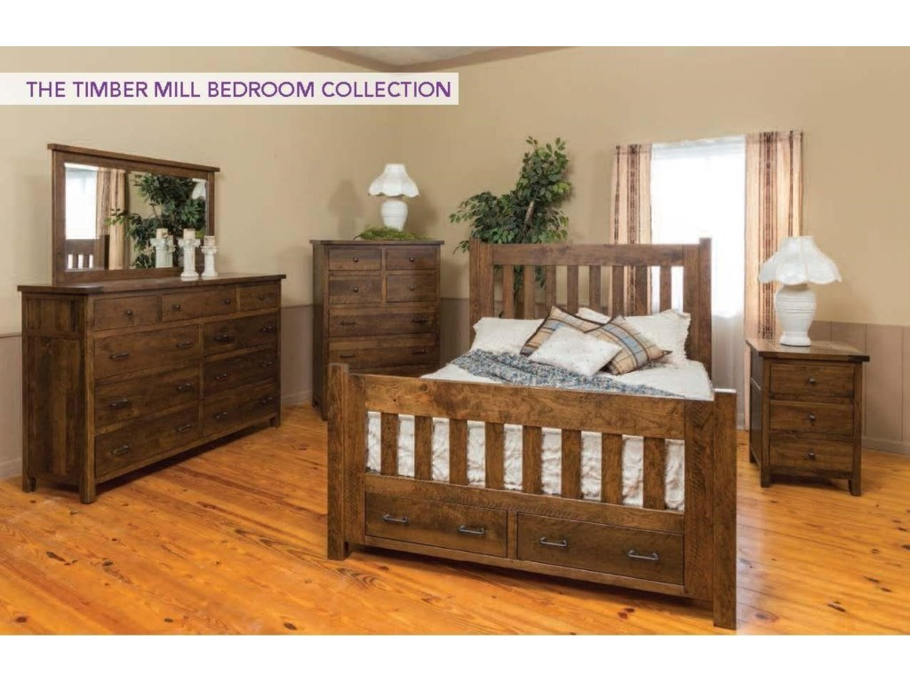 Wayside Custom Furniture Timber Mill4pc Queen Bedroom Group 1