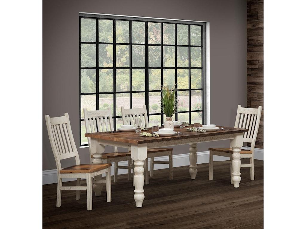 Wayside Custom Furniture Farmhouse5pc Dining Group
