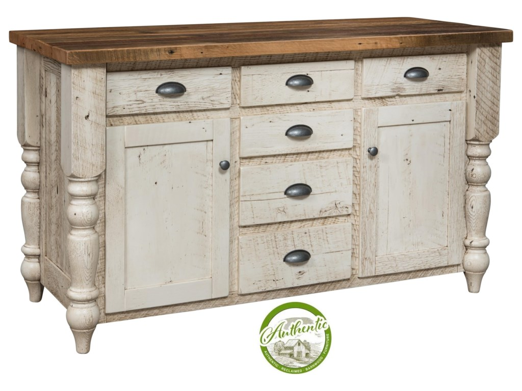Wayside Custom Furniture Farmhouse Reclaimed Barnwood Server