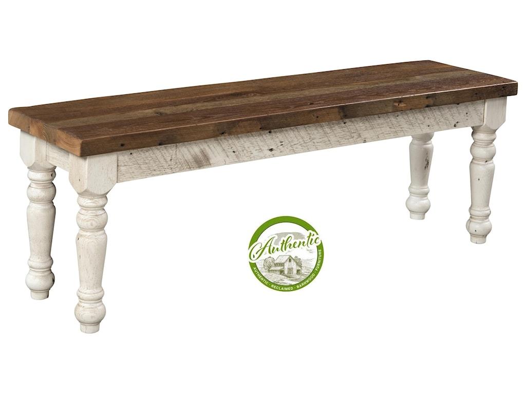 Wayside Custom Furniture FarmhouseReclaimed Barnwood Bench