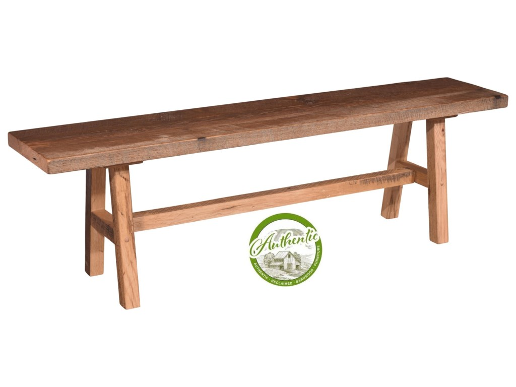 Wayside Custom Furniture GroveReclaimed Barnwood Bench