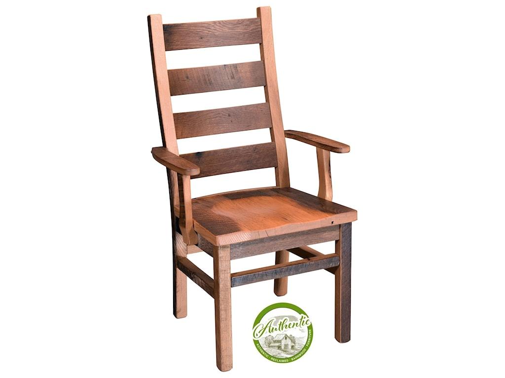 Wayside Custom Furniture GroveReclaimed Barnwood Arm Chair