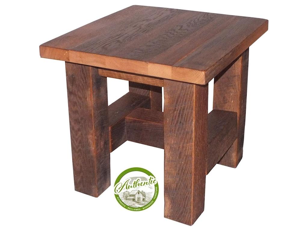 Wayside Custom Furniture GroveReclaimed Barnwood End Table