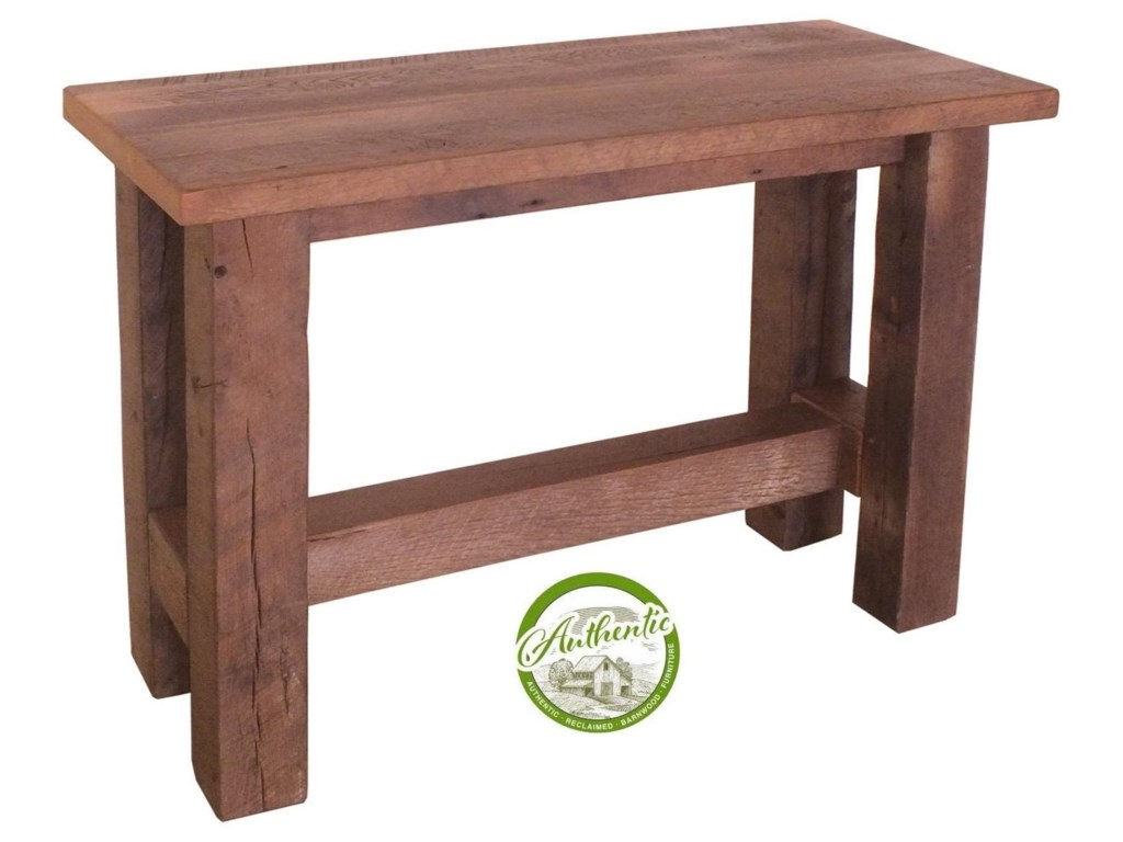 Wayside Custom Furniture GroveReclaimed Barnwood Sofa Table