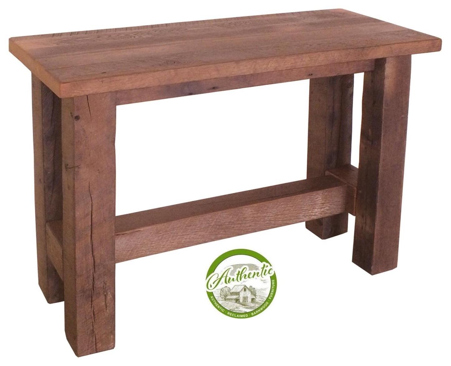 Wayside Custom Furniture Grove Reclaimed Barnwood Sofa Table