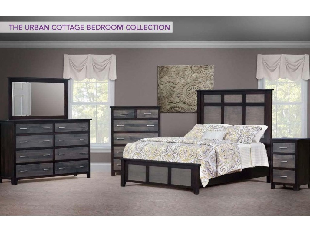 Wayside Custom Furniture Urban Cottage4pc Queen Bedroom Group