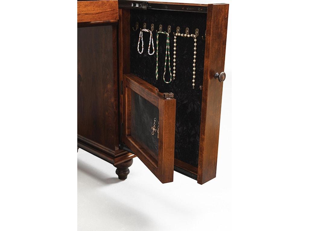 Wayside Custom Furniture Dressing TablesPlymouth Jewelry Vanity & Mirror