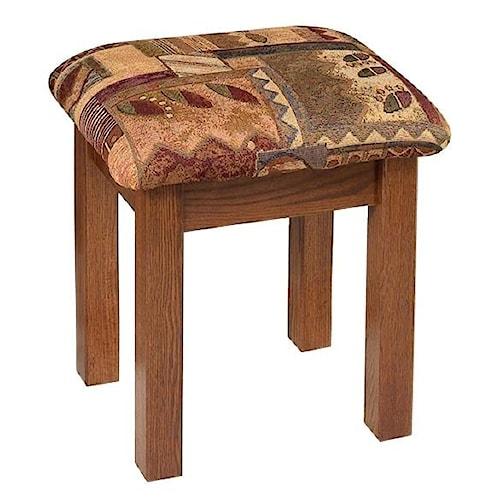 Wayside Custom Furniture Dressing Tables Mission Vanity Bench ...