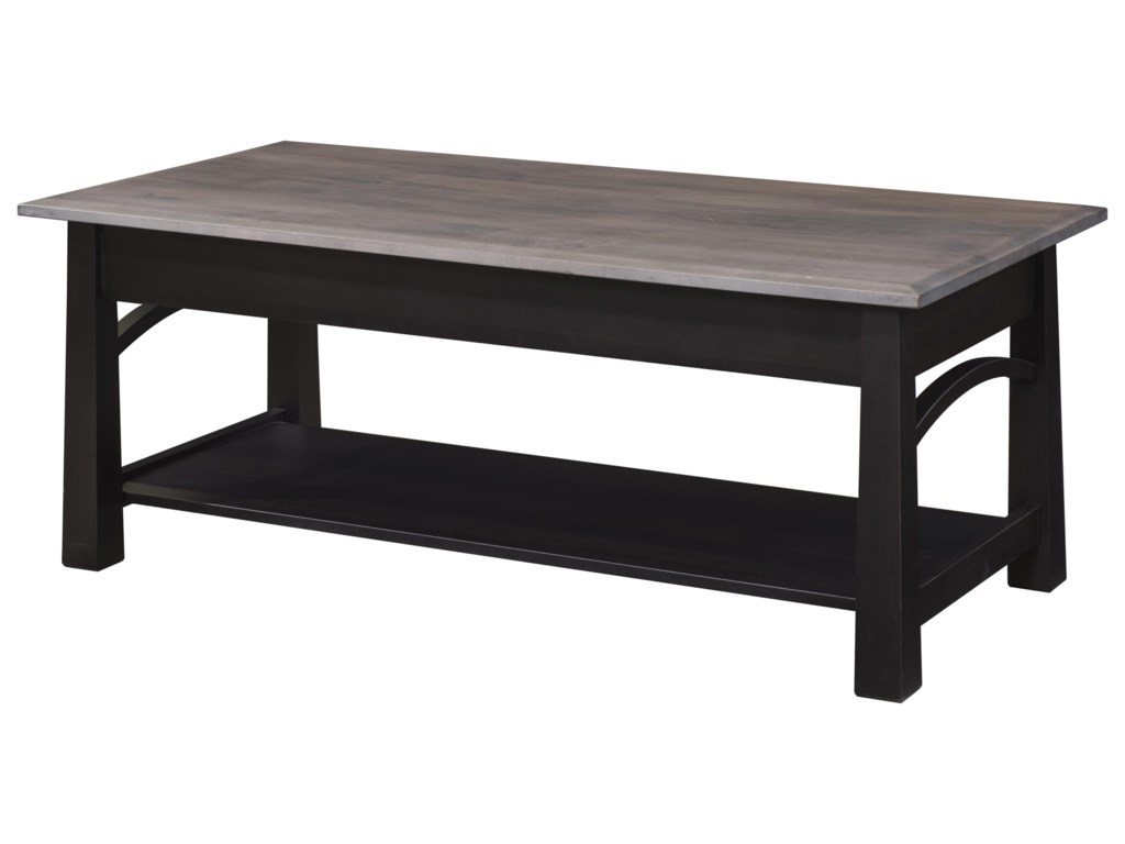 Wayside Custom Furniture Madison BowCocktail Table