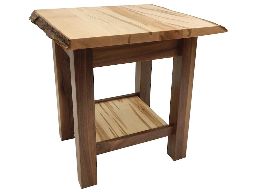 Wayside Custom Furniture Settler's LiveLive Edge End Table