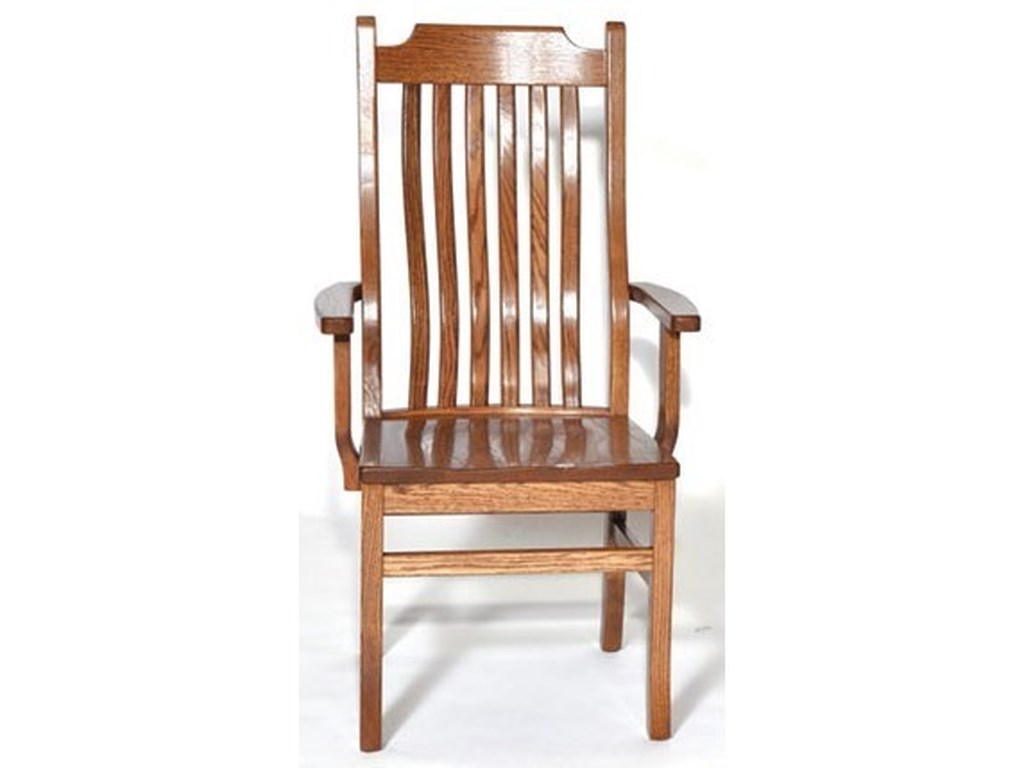 Weaver Woodcraft Custom Amish Dining76C Mission Arm Chair