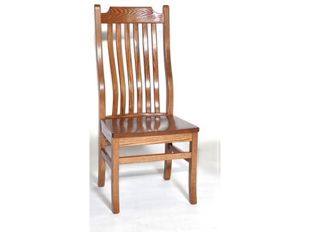 Weaver Woodcraft Custom Amish Dining76C Mission Side Chair