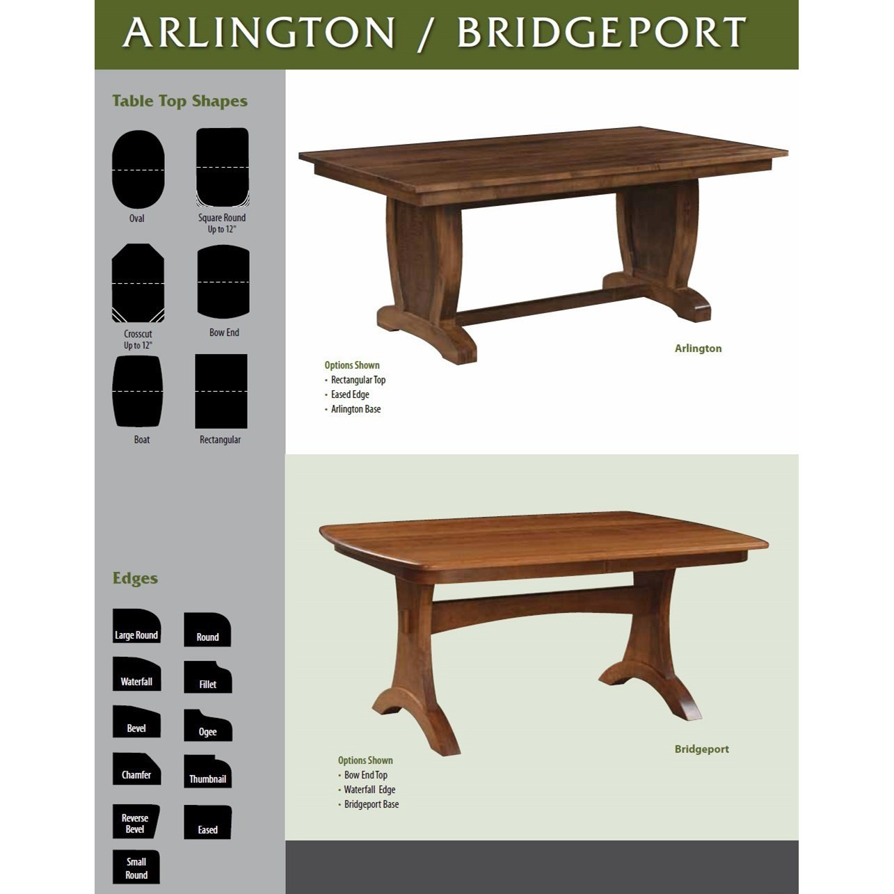 ... Weaver Woodcraft Custom Amish DiningBridgeport Table ...