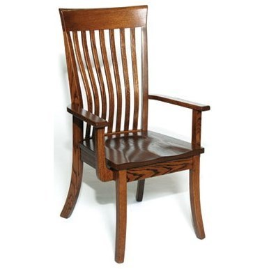 Perfect Weaver Woodcraft Custom Amish Dining Christy Arm Chair   Saugerties  Furniture Mart   Dining Arm Chairs