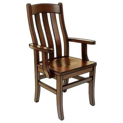 Superior Weaver Woodcraft Custom Amish Dining Fostoria Arm Chair   Saugerties  Furniture Mart   Dining Arm Chairs