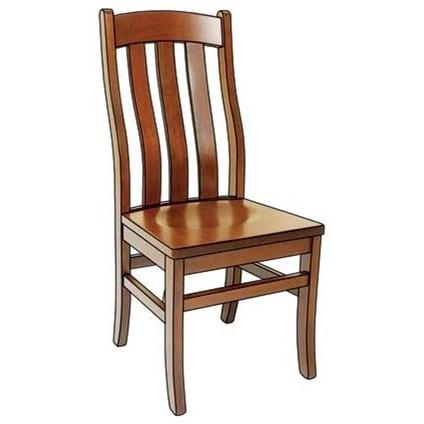 Weaver Woodcraft Custom Amish DiningFostoria Side Chair