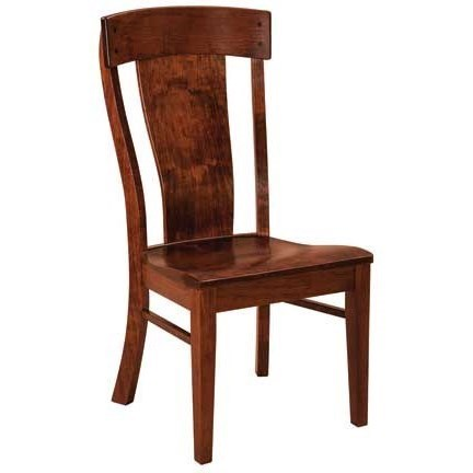 Weaver Woodcraft Custom Amish Dining Lacombe Side Chair   Saugerties  Furniture Mart   Dining Side Chairs