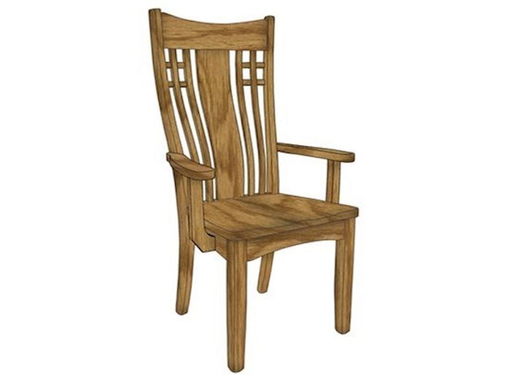 Weaver Woodcraft Custom Amish DiningLarson Arm Chair