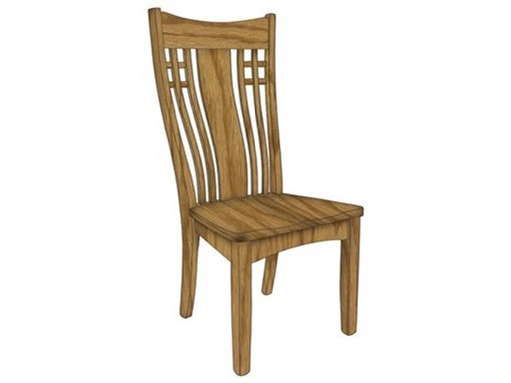 Weaver Woodcraft Custom Amish DiningLarson Side Chair