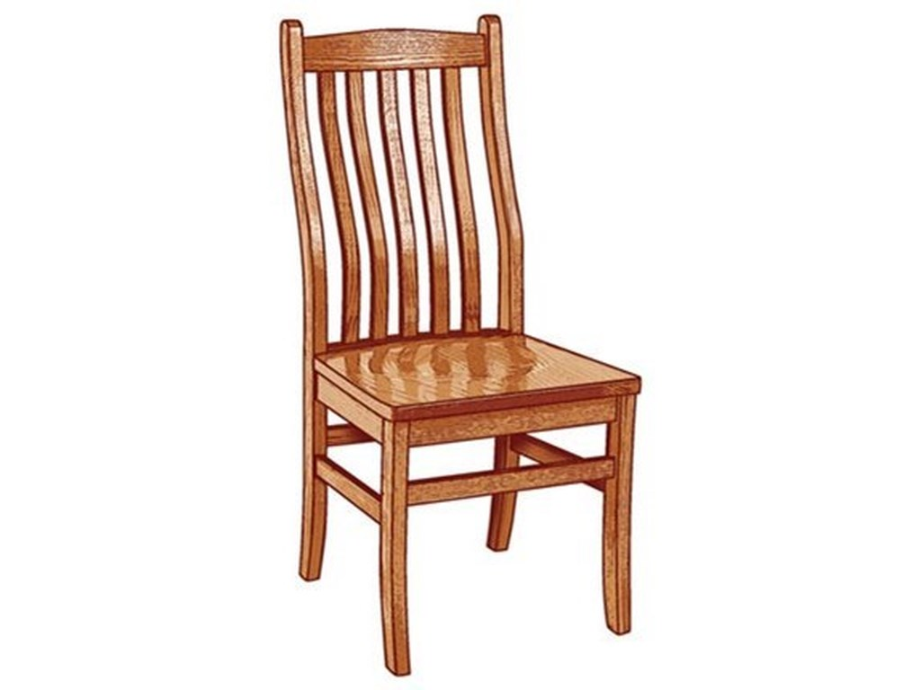 Weaver Woodcraft Custom Amish DiningLincoln Side Chair