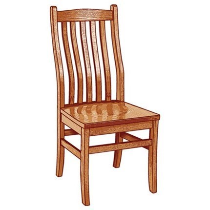 Weaver Woodcraft Custom Amish Dining Lincoln Side Chair   Saugerties  Furniture Mart   Dining Side Chairs