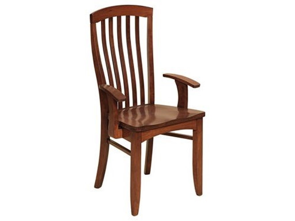 Weaver Woodcraft Custom Amish DiningMalibu Arm Chair