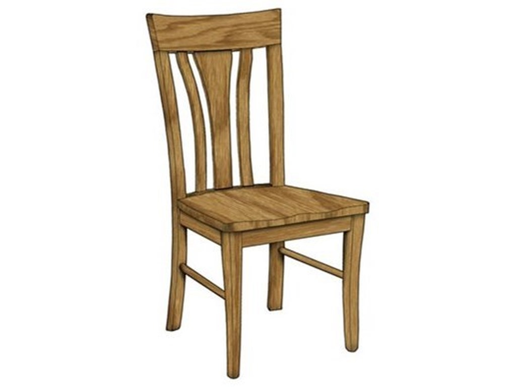 Weaver Woodcraft Custom Amish DiningMetro Side Chair