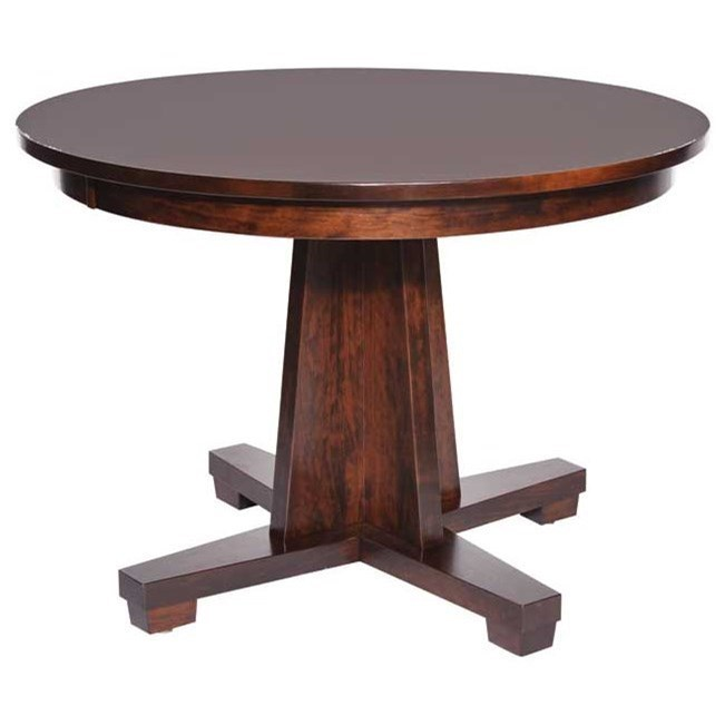 Weaver Woodcraft Custom Amish Dining Modern Mission Table   Saugerties  Furniture Mart   Dining Tables