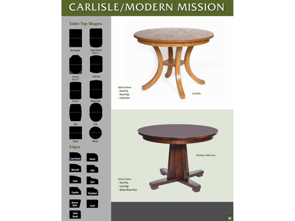 Weaver Woodcraft Custom Amish DiningModern Mission Table
