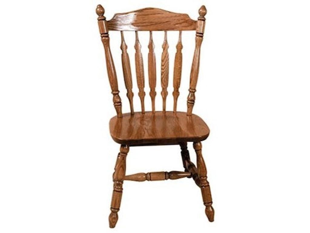Weaver Woodcraft Custom Amish DiningRoyal Plain Side Chair