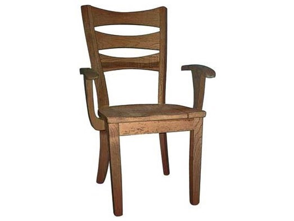 Weaver Woodcraft Custom Amish DiningSierra Arm Chair