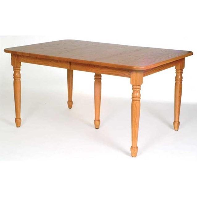 Weaver Woodcraft Custom Amish Dining Standard Leg Table   Saugerties  Furniture Mart   Dining Tables