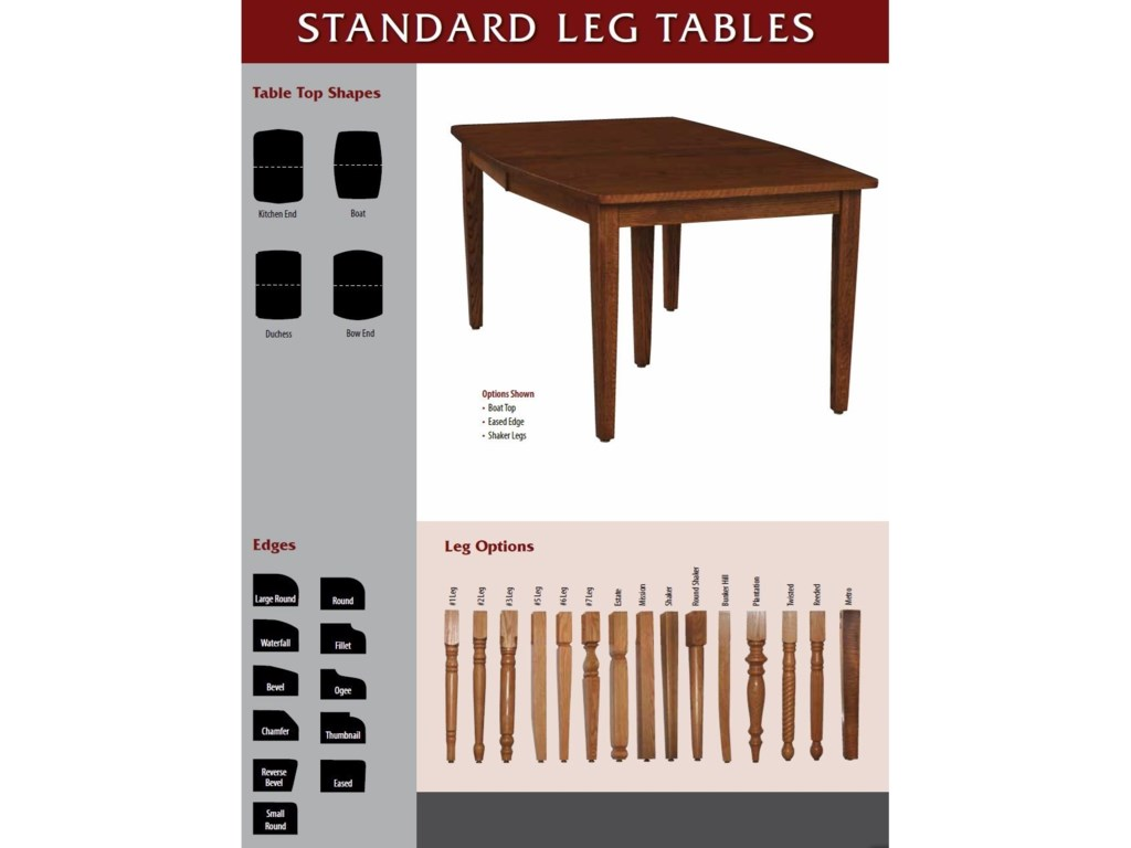 Weaver Woodcraft Custom Amish DiningStandard Leg Table