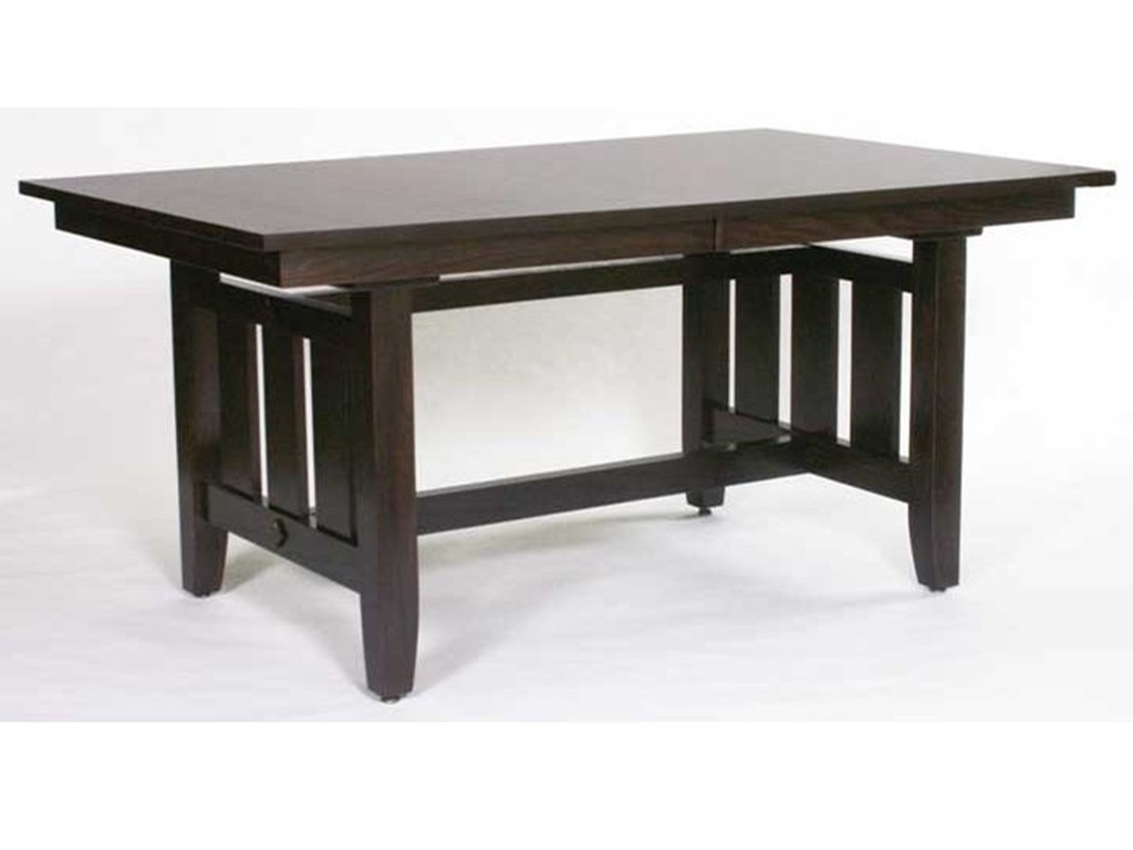 Weaver Woodcraft Custom Amish DiningTrestle Mission Table
