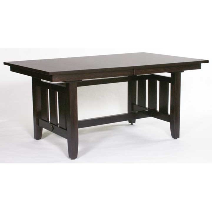 Weaver Woodcraft Custom Amish Dining Trestle Mission Table   Saugerties  Furniture Mart   Dining Tables