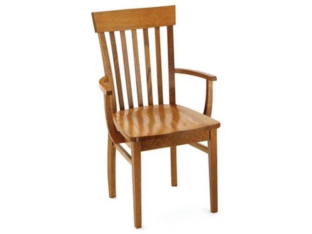 Weaver Woodcraft Custom Amish DiningVenice Arm Chair