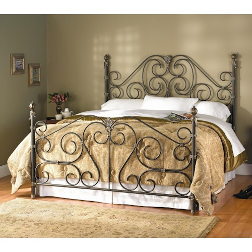 Wesley Allen Aberdeen Queen Aberdeen Metal Headboard and Footboard Bed