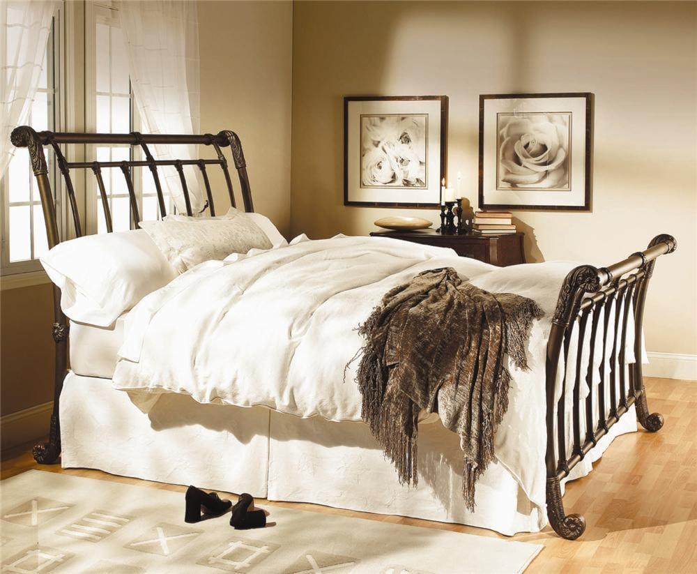 Wesley Allen Iron Beds Brookshire Iron Sleigh Bed