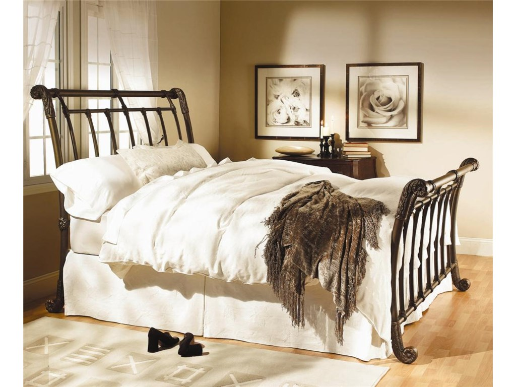 Wesley Allen Iron BedsBrookshire Sleigh Bed