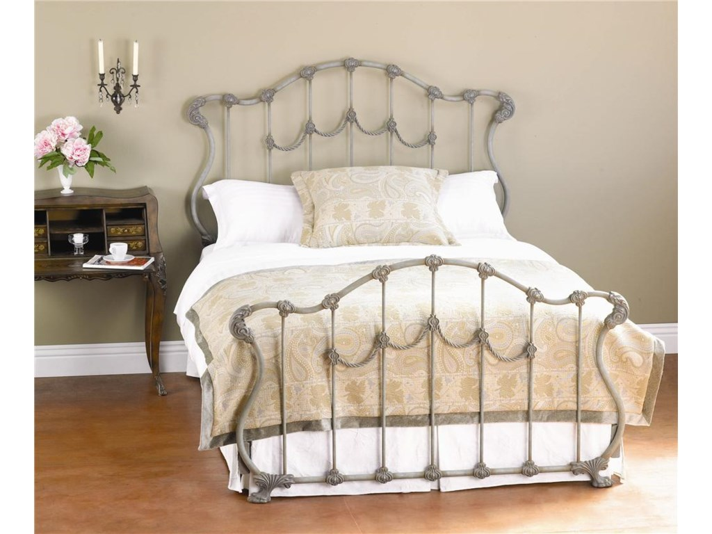 best website ef271 b3ade Iron Beds Queen Complete Hamilton Headboard and Footboard Bed by Wesley  Allen at Wayside Furniture