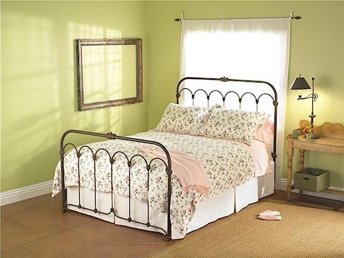 Wesley Allen Iron Beds Queen Hillsboro Iron Headboard and Footboard Bed